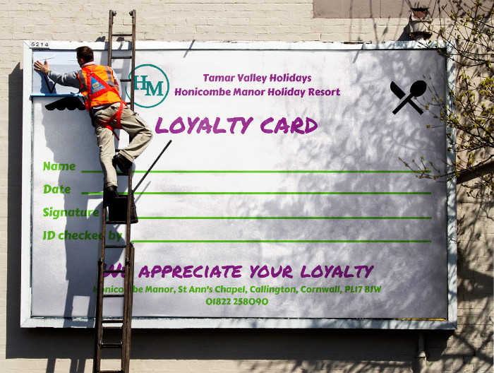 honicombe loyalty card front billboard