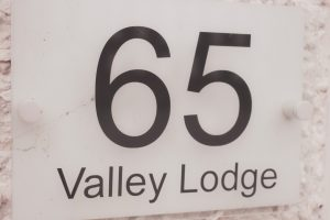 65 valley lodge name plate