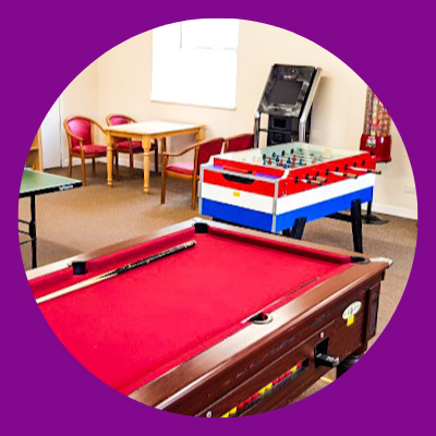 TVH Honicombe Manor holiday park games room