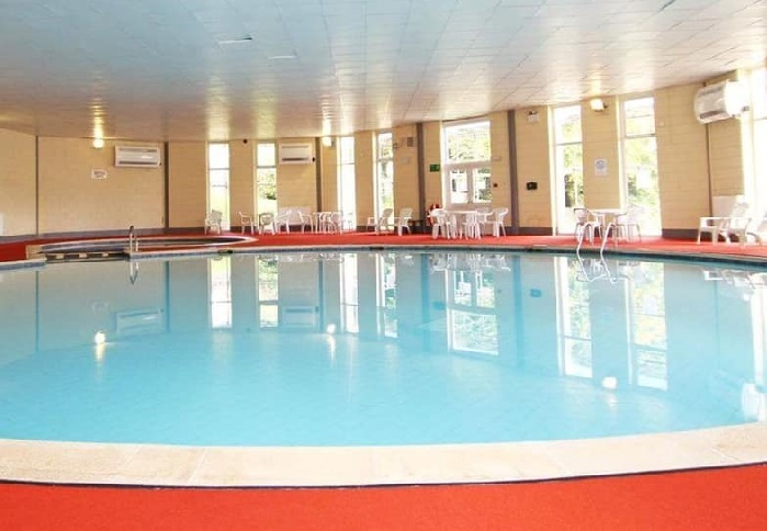 honicombe manor indoor heated pool with sunbeds
