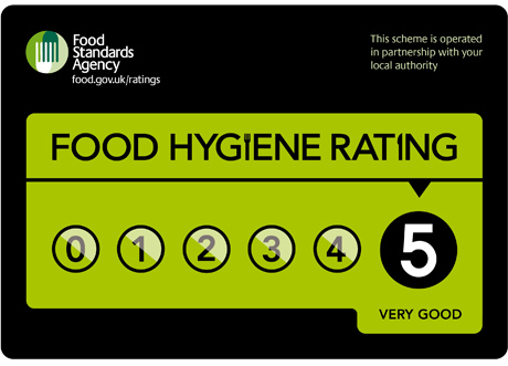 food hygiene rating 5 Honicombe Arms